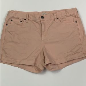 J Crew pink denim shorts